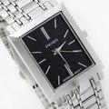 Wilon 971 Marca simple cuadrado macho pareja relojes de pulsera Original de Corea moda Mujer de los hombres reloj de acero inoxidable