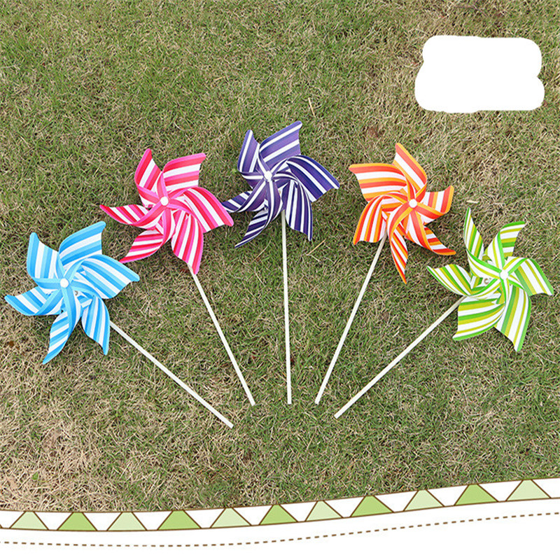 1pcs 21CM Hexagonal Windmill Colorful Children Creative DIY Items PVC Plastic Toy Windmill Gifts For Children