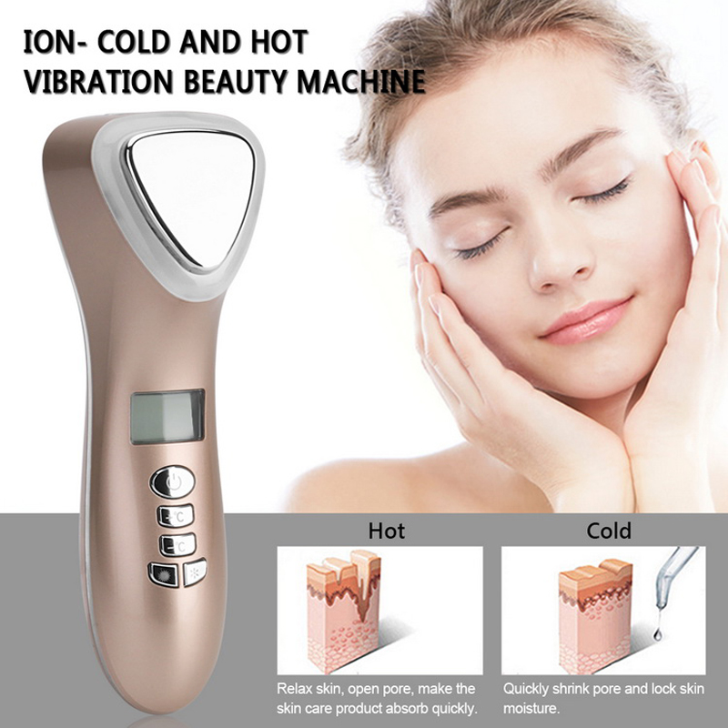 Ultrasone Cryotherapie LED Hot Cold Hammer Facial Lifting Trillingen - Huidverzorgingstools - Foto 2