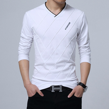 Brown Fashion Men's Slim Fit T-shirt 3