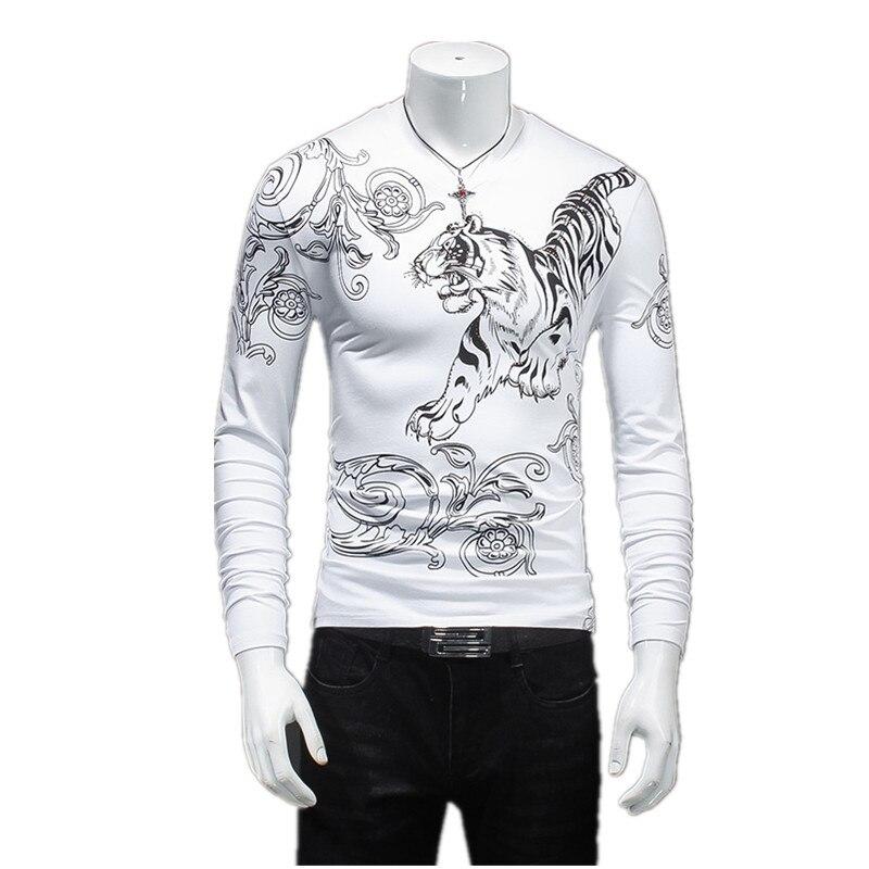 2016 Autumn& winter Fashion Man Tops Tees long Sleeve Tshirt Men's T shirt brand  round neck shirts men Free Shipping size M-5XL
