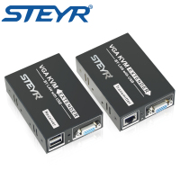 STEYR VGA KVM Extender 200m Over Single UTP CAT5e 6 LAN RJ45 Extender Splitter USB Keyboard