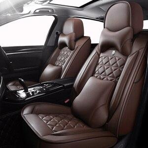 Image 1 - (Anteriore + Posteriore) speciale seggiolino auto Pelle copre Per Toyota Corolla Camry Rav4 Auris Prius Yalis Avensis SUV accessori auto auto