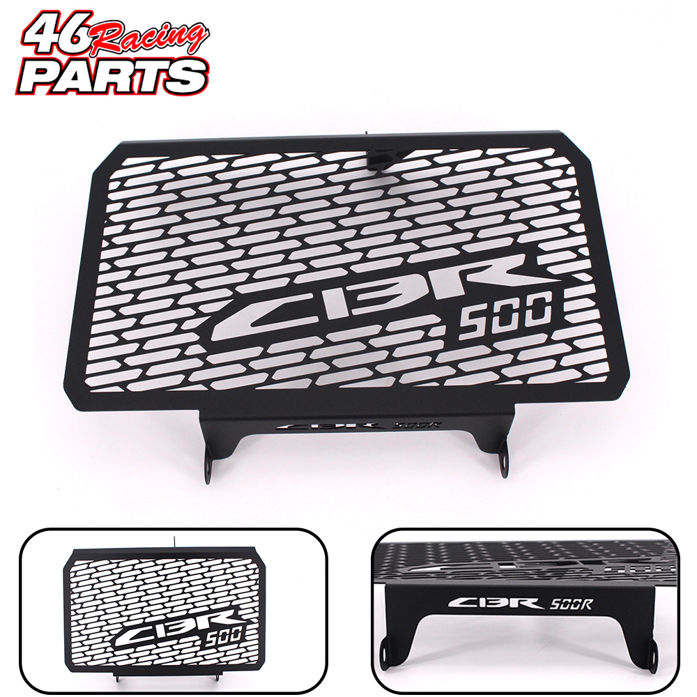 Black Motorcycle Accessories Radiator Guard Protector Grille Grill Cover For Honda CBR 500R CBR500R 2013 2014 2015 motorcycle radiator protective cover grill guard grille protector for honda cbr650f cb650f cbr cb 650 f 2014 2015 2016 2017