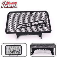 Black Motorcycle Accessories Radiator Guard Protector Grille Grill Cover For Honda CBR 500R CBR500R 2013 2014
