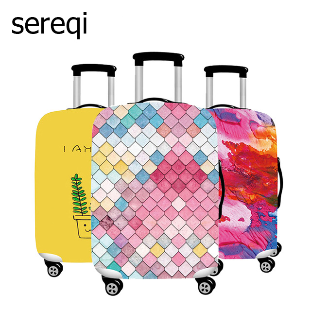 Sereqi Stylish Elastic Suitcase Case. Suitable For 18 32 Inch Trolley Luggage Dust Cover Trunk Lid Luggage Protection Cover