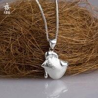 UNDRUM 999 sterling bạc quyến rũ chick mặt dây chuyền vòng cổ nữ trang sức vòng cổ thương hiệu tên necklace MIỄN PHÍ VẬN dây chuyền bạc