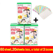 Genuine 60pcs Fuji Fujifilm Instax Mini 8 Film White Edge For 8 7 7s 50s 90 25 dw 50i Share SP-1 Instant Cameras Fast Shipping