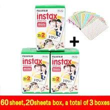 Véritable 60 pcs Fuji Fujifilm Instax Mini 8 Film Blanc Bord Pour 8 7 7 s 50 s 90 25 dw 50i Partager SP-1 Instant Caméras Rapide gratuite
