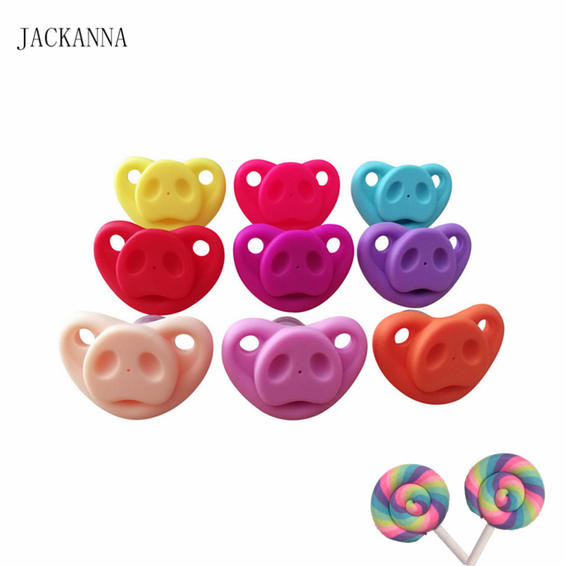 Silicone Funny Baby Pacifiers Dummy Nipples Toddler Pacy Orthodontic Soothers Teat for Baby Holiday Gift BPA FREE