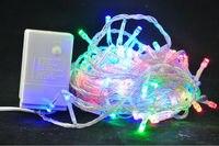 Ücretsiz kargo!!! toptan Çok renkli 10 M 100 LED Dize Işıklar Düğün Dekorasyon Işıklar 220/110 V LED Noel dekor işıklar
