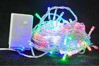 Free shipping!!! Wholesale Multi color 10M 100 LED String Lights Wedding Decoration Lights 220/110V LED Christmas decor lights