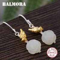 BALMORA 925 Sterling Argent Fleur & Bird Boucles D'oreilles pour les Femmes Mignon De Mode Boucles D'oreilles En Argent Sterling Bijoux Brincos TRS30989