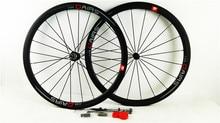 700C bicycle wheelset 23mm width carbon road wheels carbon 38mm clincher wheel UD matte bike road wheels