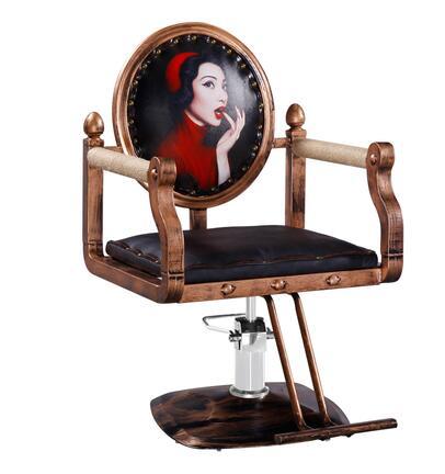 Retro hairdressing salon chair waiting for dyeing hot chair haircut chair hair salon hydraulic chair master chair workmanship. haircut chair hairdressing chair barber chair richard