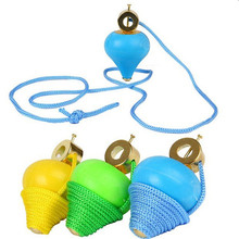 цена на 1Pcs Funny Creative Birthday Gifts Traditional Swing Rope Gyro Children's Toys Gyroscope Baby Spinning Top Classic Toys