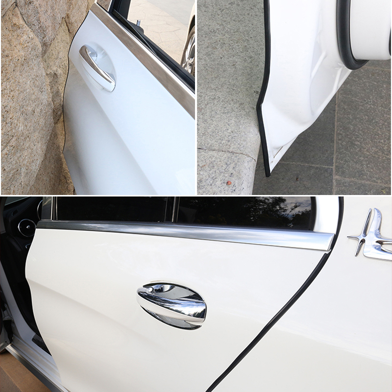 Car Door Trips Rubber Edge Protective Strips For Ford Focus 2 1 Fiesta Mondeo 4 3 Transit Fusion Kuga Ranger Mustang KA S-max