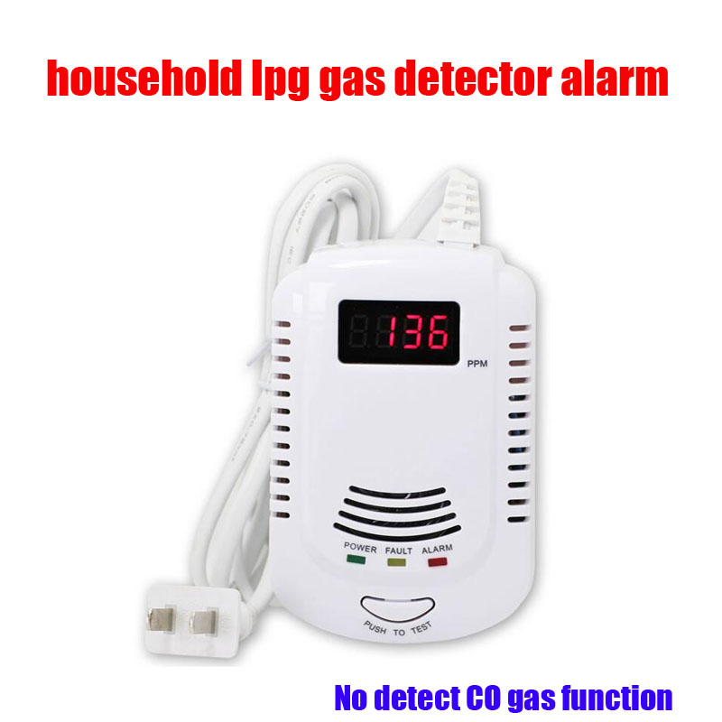 New Home Standalone Plug-In Naturea Gas leak Detector LPG LNG Coal Combustible Gas Alarm Sensor With Voice Warning new standalone combustible gas alarm lpg lng coal natural gas leak detector sensor for home security safety free shipping