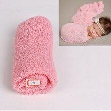 35*150cm Stretch Knit Wrap Newborn Photography Props Baby Kids Blanket Rayon