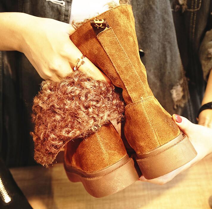 2018-Front-Zipper-Cool-Female-Snow-Boots-Plus-Fur-Winter-Shoes-Flat-Boots-Woman-Lamb-Fur(2)
