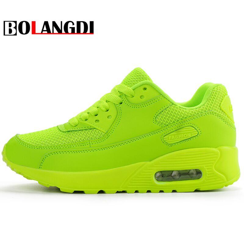 BOLANGDI Più Nuovo Autunno della Molla Scarpe Da Corsa Per Esterni Confortevoli Donne di Marca Sneakers Uomo Traspirante Sport Shoes Size 35-44