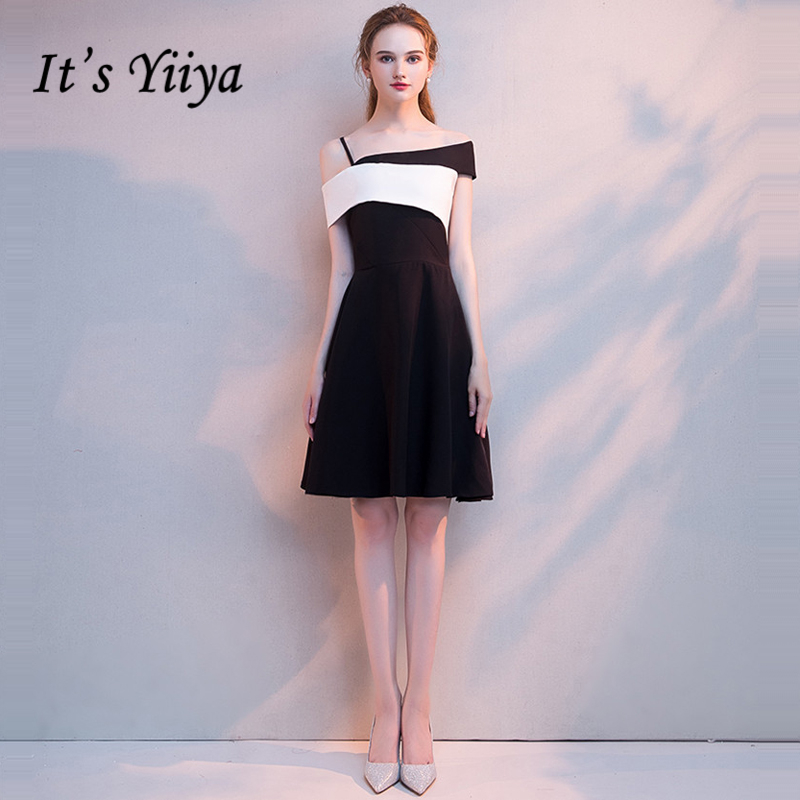 It's YiiYa Little Black   Dress   Sleeveless Fashion Designer Quality Zipper   Cocktail     Dresses   Knee Length Formal   Dress   LX1083