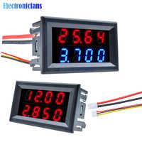 Mini Digital Voltmeter Amperemeter Hohe Präzision 100V 200V 10A messgerät 5-Verdrahtung 4 bit Genaue Spannung strom Meter