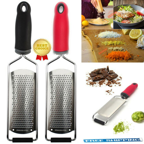 Cheese Graters New Ginger Lemon Grater Hand Held Flat Stainless Steel Tool