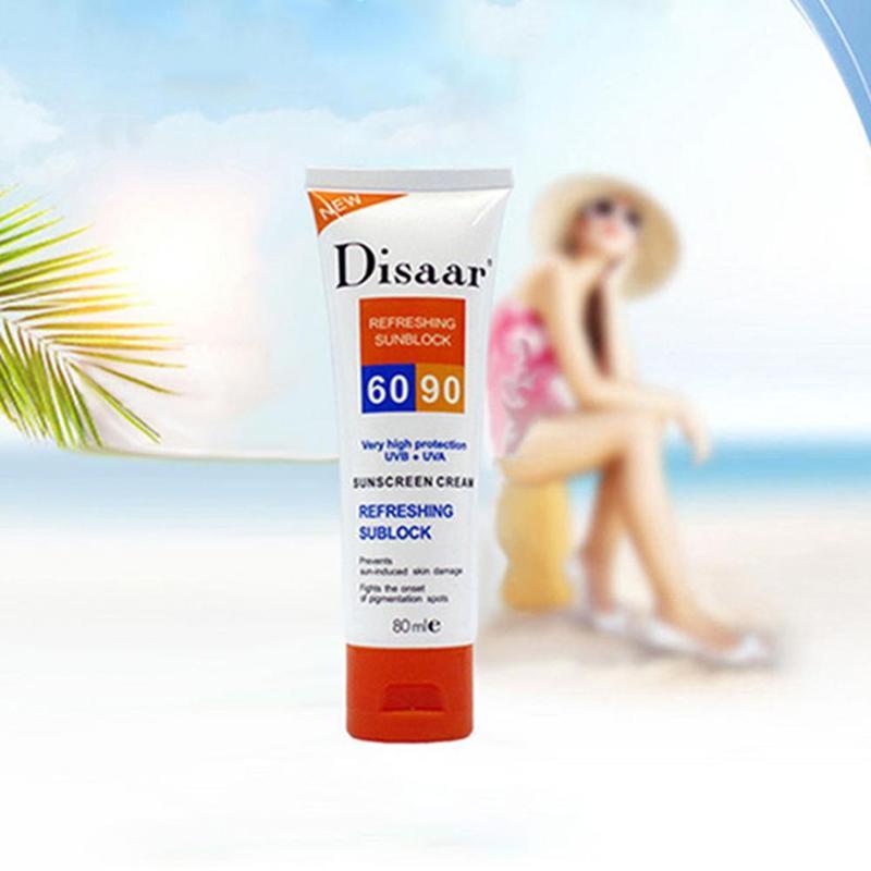 Summer  Sunscreen Cream Spf 90 ++ Moisturizing Skin Protect Sunblock 80g Face Care Prevents Skin Damage, Remove Pigmention Spots