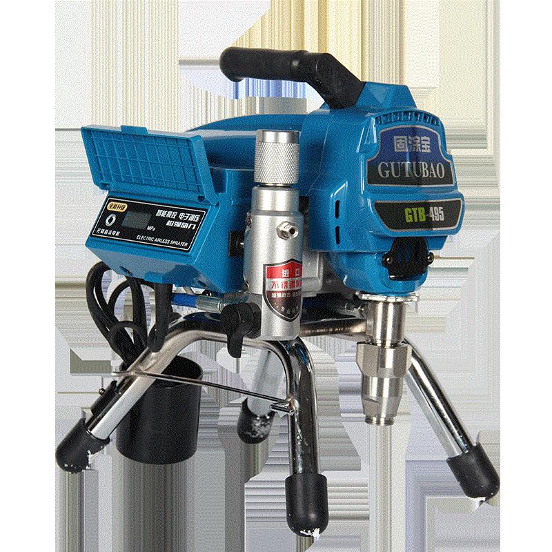 Professional airless spraying machine Professional Airless Spray Gun 2500W 2.5L Airless Paint Sprayer 495 painting machine tool-in Spray Guns from Tools    2