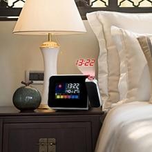 Hot Sale Plastic LED Alarm Clock Display Date/Time/Celsius Temperature