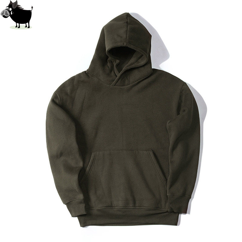 Man Si Tun New Streetwear Pullovers Drake Kanye West Plain  Fleece Oversized Hoodie Kpop Clothes Tracksuit Hoodies Men Hip Hop