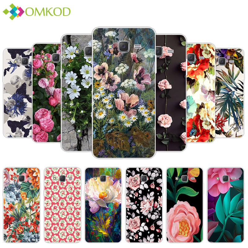 For Coque <font><b>Samsung</b></font> <font><b>Galaxy</b></font> <font><b>Grand</b></font> <font><b>Prime</b></font> <font><b>Cases</b></font> Silicone Soft TPU Flowering Back Cover for <font><b>Samsung</b></font> <font><b>Galaxy</b></font> G530 <font><b>G530H</b></font> G531 G531H G531F image
