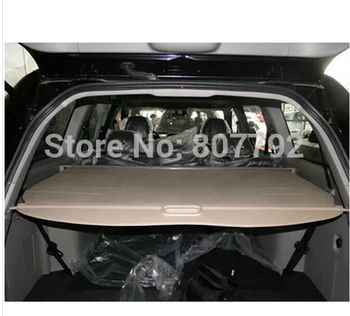 Top Quality! Rear Trunk Security Shield Cargo Cover Fit For Mitsubishi Pajero Sport 2011 2012 2013 2014 (Black, beige)