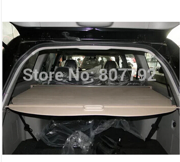 Top Quality! Rear Trunk Security Shield Cargo Cover Fit For Mitsubishi Pajero Sport 2011 2012 2013 2014 (Black, beige) image