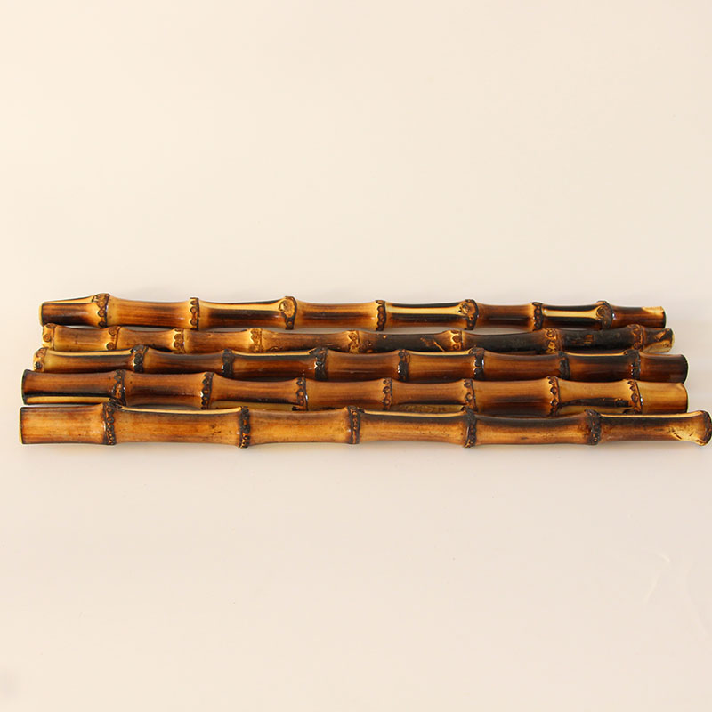 4 Pcs Lot 33 Cm Two Colors Straight Bamboo Purse Bag Frame Handle Parts Correa Para Bolso Bamboo Cane Ratten Handle Purse Frame