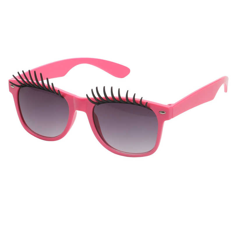 54b074c61f1 Detail Feedback Questions about Novel False Eyelashes Glasses Funny Women  Sunglasses Masquerade Photography Prop Toy Party Spectacles Cartoon Eyewear  UV400 ...
