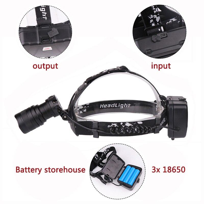 Z20 Litwod 2806 32W chip XHP70.2 Headlight 6200lum powerful Led headlamp zoom Head light head lamp flashlight torch Lantern