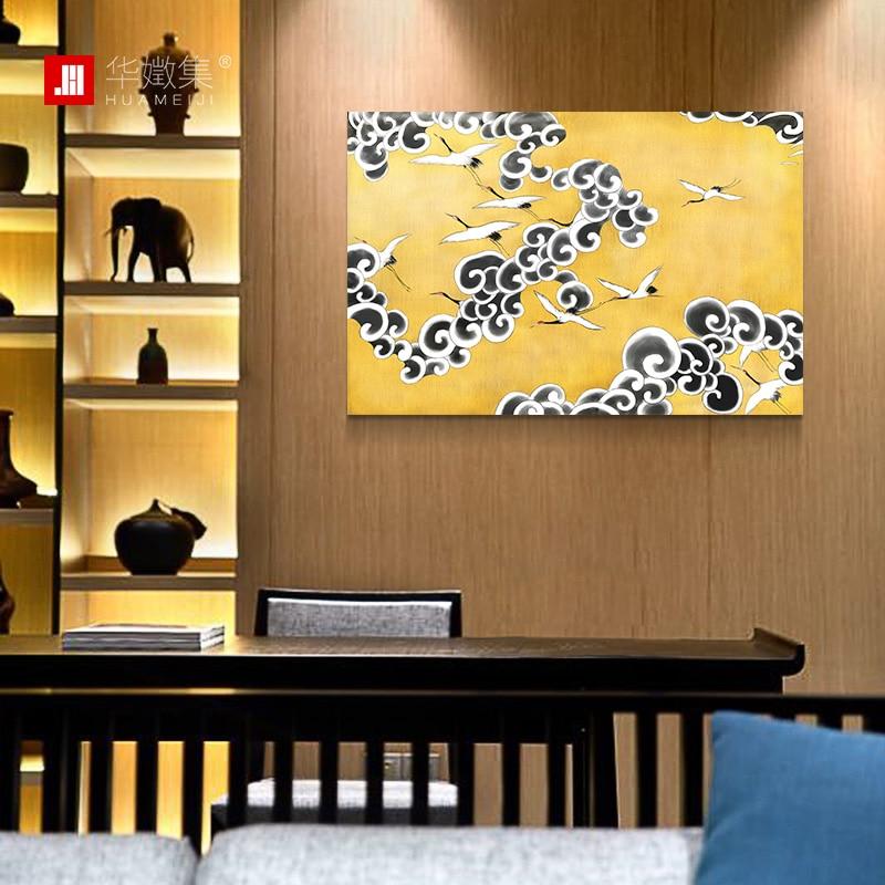 Large Painting Art Prints Golden Crane Artist Original Oil Painting ...