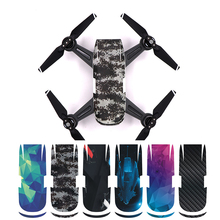 6 Items/lot ( 6 Colours) Waterproof FPV Drone Protecting PVC Pores and skin Cowl Sticker For DJI Spark Digital camera Drone Decals Equipment