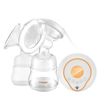 CMbear USB Electric Breast Pump with double Milk Bottle Lactation Suck USB Breast Enlargement Pump with Feeding Nipples
