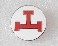 York Rite Triple Tau White Circle Masonic Freemason Epola Lapel Pin with butterfly clutch