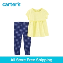 Carter's 2-piece baby children kids clothing Girl Spring Fall Floral Top & Polka Dot Legging Set 239G664