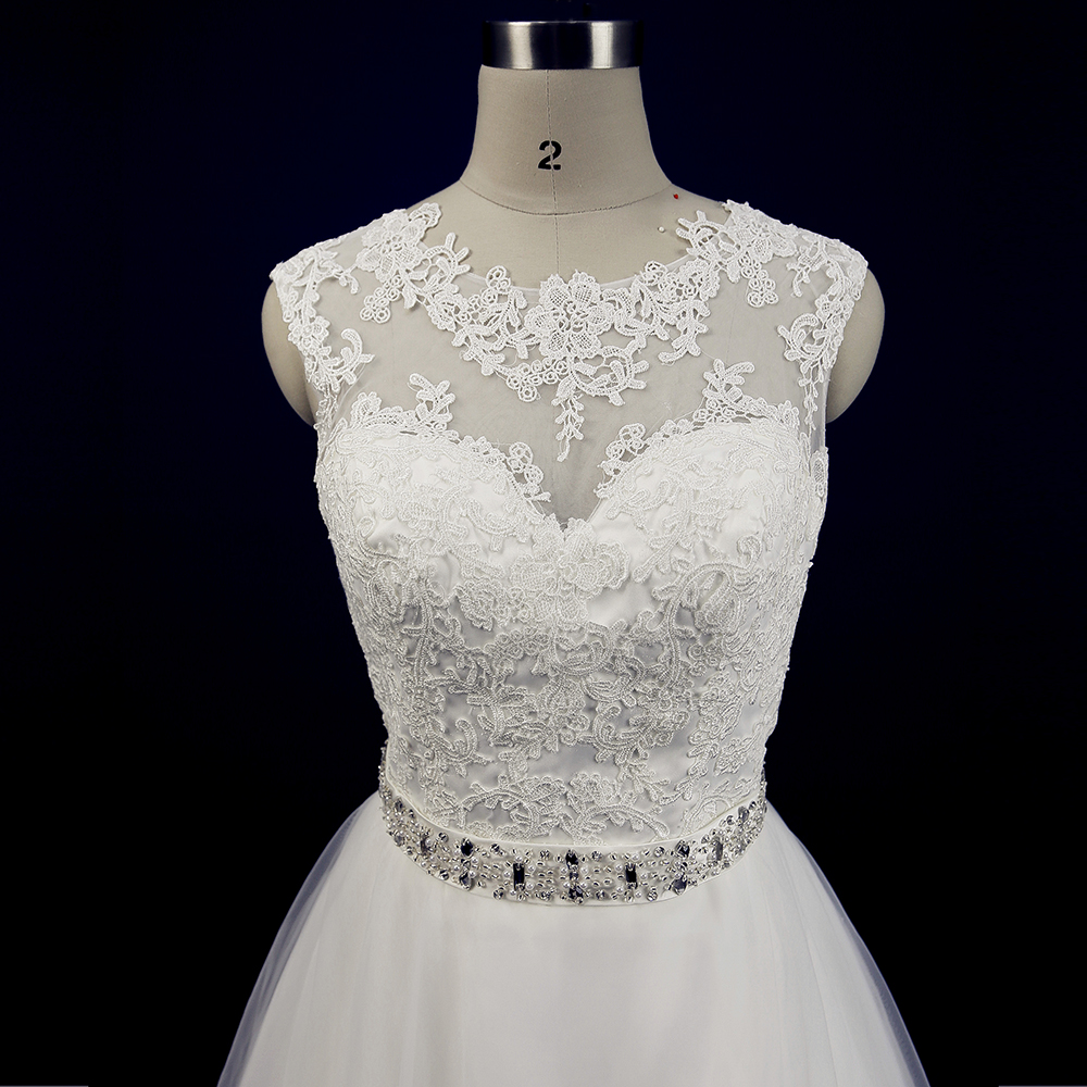 Cheap China Wedding Dress Lace A Line Simple Civil Bride