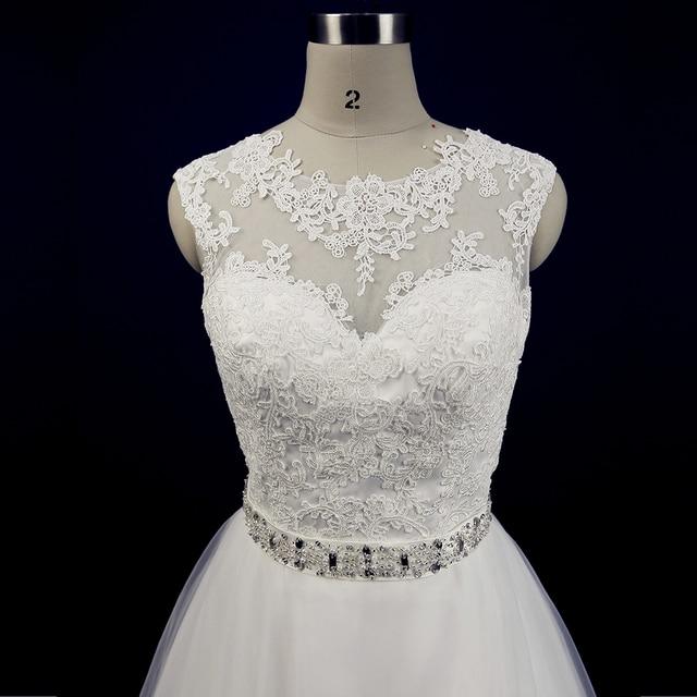 China Wedding Dress Lace A Line Simple Civil Bride Dresses Gowns Liques Tulle Court