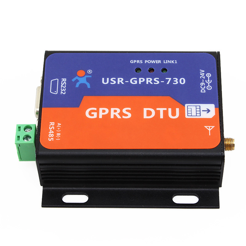 USR-GPRS232-730 Free Shipping RS232/RS485 GSM Modems Support GSM/GPRS GPRS to Serial Converter DTU Flow Control RTS CTS beautiful gift new usb to rs232 db9 serial com convertor adapter support plc drop shipping kxl0728