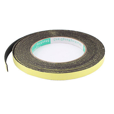 5M 10mm x 1.5mm Single Side Adhesive Foam Sealing Tape for Door Window single sided blue ccs foam pad by presta