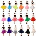Fashion Knee Length 65 CM Tulle Colored Petticoat Tutu Skirt For Women Wedding Accessories Bridal Petticoats Underskirt
