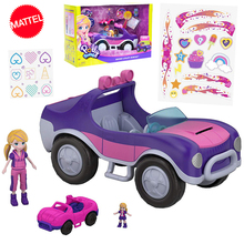 Original Polly Pocket Princess Girl Doll Car Toy Mini Luxury Wagon Suit Girls Nesting Dolls Toys for Children Gift Boneca