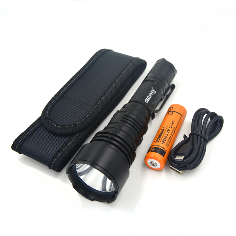 LED Flashlight USB Rechargeable LED Torch Pocket Tactical Switch Strong Light Waterpoof Fishing Camping Light with 18650 Battery tactical led wrist watch flashlight torch light usb rechargeable outdoor camping